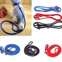 Wholesale New Practical Adjustable Colorful Nylon Rope Pet Dog Slip Training Leash Walking Collar