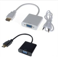 Wholesale Hot New HDMI to VGA with mm Jack Audio Cable Video Converter Adapter For Xbox PS3 PC