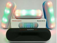 Wholesale LED speaker XC32 Wireless Speakers Pill speaker pulse LED light bluetooth speaker HiFi sound box portable Speaker support TF FM