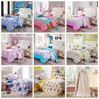 Wholesale Air Condition Room Thin Summer Quilt Spring Comforter Cotton Home Textiles Full Queen Bed Supplies Kids Adults Cheap