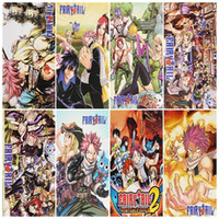Wholesale 8pcs set High Quality Cartoon Anime Fairy Tail Posters Paper Poster Wall Sticker Room Decoration X29cm