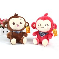 baby stuffed toy beauty - Beauty PC Kids Baby Plush Toy Cartoon Monkey Smile Neckerchief Stuffed Toys
