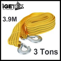 Wholesale 3 Tons FT Car Tow Cable Towing Rope with Hooks for Heavy Duty Car Emergency Tool Dropshipping