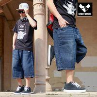 baggy jeans shorts - Baggy Jeans Shorts Men Hip Hop New Fashion Plus Size Skateboard Calf Length Shorts