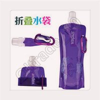 adult folding bicycle - 1lot CCA3506 High Quality mL Portable Foldable Water Bottle Environmental Protection Collapsible Bottle Outdoor Sports Gear