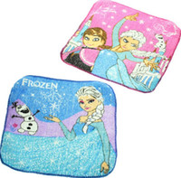 Wholesale 2014 new Frozen Towels Children Baby Cotton Towel Cartoon Elsa Anna Girls Absorbent Towels Small Square Handkerchief frozen x cm