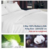 Wholesale Filled Quilt Duvet Comforter Quilts and Comforters Handmade kg Pure Mulberry Silk Quilt Winter King Size x230cm