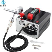 airbrush paint car - OPHIR Portable Pro Airbrush Kit with Air Compressor for Model Car Painting Hobby Makeup Body Tattoo Cake Decorating_AC091 AC004A