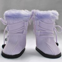 american girl doll boots - 18 quot INCH DOLL SHOES for AMERICAN GIRL plush purple boots toy clothing clothes accessories Christmas birthday gift for baby