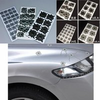 Wholesale 1pcs car styling Fake bullet holes realistic bullet hole stickers funny new creative personality car stickers