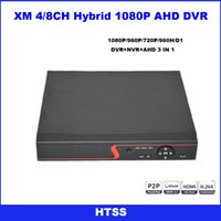 Wholesale 1080P channel or Channel CCTV AHD DVR AHD H Hybrid DVR P NVR Digital Video Recorder For AHD Camera IP Camera Analog Camera