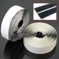 hook and loop fasteners - 2rolls Sticky Self Adhesive Velcro Hook and Loop Tape Fastener m mm Strip Solid Black