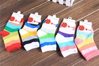 baby warm socks sale - Children Socks Spring and Autumn New Contrast Color Cotton Lovely Stripes Cute Long Socks Baby Fashion Sweet Hot Sale Warm Color Kids Socks