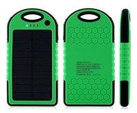 fuente de alimentación móvil de 5000mAH ahorro de energía solar del cargador de 2 puertos de batería externo del paquete del banco de la energía para el teléfono celular portátil