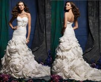 dresses in china - 2015 New Style Wedding Dress Mermaid Backless Applique Bow Lace Sash Wedding Dresses Charm Made In China