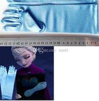 Wholesale Hot cm long full finger wedding gloves halloween Christmas party frozen elsa gloves Elsa Cosplay Costume Snow Queen Anime gloves