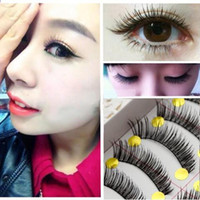 artificial cotton stems - pairs pack Natural thick light make up cotton stem false artificial eyelashes