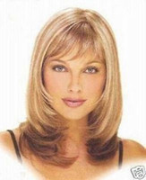 Wholesale 2015 Fashion Short Mix blonde Curly lady s Synthetic Hair Cosplay Wigs