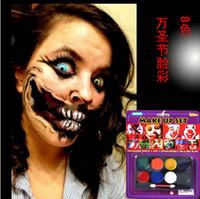 Wholesale Nontoxic safe Body paint face paint Pigments for Halloween maquillaje maquiagem beauty tool peint pintado pintado