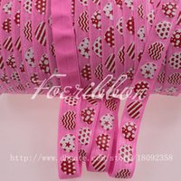 fold over elastic - 5 quot fold over elastic hot pink heart printed with glitter foe elastic for Valentine s Day yards roll