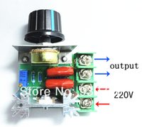 ac current regulator - 5 Pack W AC220V SCR High Current Protection AC Voltage Regulator Dimming Dimmer Motor Speed Controller Thermostat order lt no track