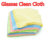 eyeglasses cleaning cloth - Colorful Microfiber Glasses Cleaning Cloth for LCD Screen Tablet Phone Computer Cloth Glasses Lens Eyeglasses Wipes Clean Cloth DHL Free