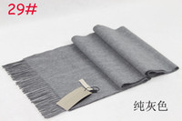 Wholesale Hot Christmas gift Autumn and winter brand B cashmere plaid scarves draped men and women dress