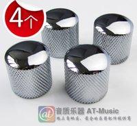 Wholesale 4 silver guitar bass metal knob volume knob mm potentiometer cap m152