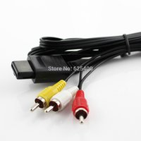 Wholesale 50pcs High Quality Audio Video AV CABLE FOR NINTENDO N N64 NGC GAMECUBE SNES Game Video system FAST SHIPPING