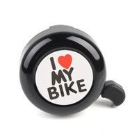 alluminium bike - Bicycle Cycling Bell Ring Alluminium I Love My Bike Letters Cycling Horn With Fittings Mountain Road Bike