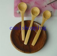 Wholesale DHL Freeshipping Wooden Spoon BAMBOO SCOOP