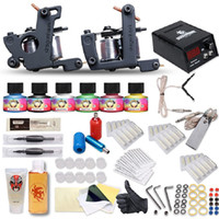 2 Guns Beginner Kit tattoo kits 115pcs set Beginner Tattoo Machine Kit,Complete Set of Tattoo Equipment,2 tattoo Gun & 6Colors Tattoo Ink Pigment