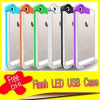 iphone 5 lightning cable - Creative Lightning Flash LED Light Up Phone Case With USB Cable for iPhone quot plus quot s s USB Charging Cable Case