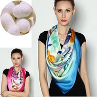 hand painted silk scarf - Chinese Hand painted Mulberry Silk Square Scarf Luxury Women Shawl Winter NEW Christmas Best Gift for Women Colors DHL Shipping