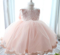 infant girl dresses - Newborn Baby Girls Tutu Dress Lace Net Yarn Pink Princess Dresses For Baby Big Bowknot Infant Party Clothes M M M Age K366 XQZ