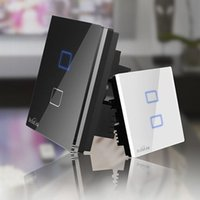 Wholesale BroadLink TC2 RF Mhz Smart Home Wall Light Switch Wireless Control lamps By e control single live wire connection