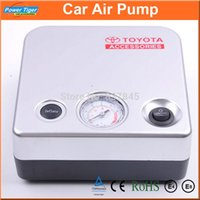 Wholesale 100Psi Electric Air Pump Emergency Auto Car Tyre Pump Air Compressor Cigarette Lighter Power Supply With Tire Pressure Gauge