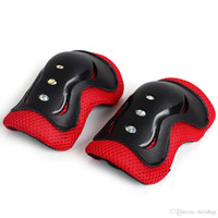 Wholesale Kids Roller Skating Knee Elbow Wrist Protective Pad Children Child SkateBoard Red Guard Pads