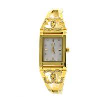 Wholesale GOLD WINNER Brand Fashion Casual Diamond Crystal Women Girls Square Shell Face Waterproof Watches Quartz Watches Wristwatches GW180029