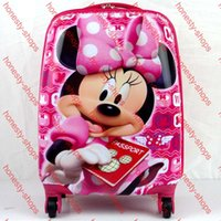 Wholesale Quality Assurance Multiple fuction ABS Cartoon Kids Rolling Luggage Children Travel Bags