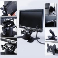auto monitor mount - 7 Inch IR Color TFT LCD Car Mirror Monitor Screen Auto Vehicle Parking Reverse Backup Rear View Camera Stander Mount Holder