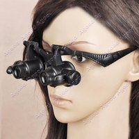 Wholesale 2015 New X X X X LED Eye Jeweler Magnifiers Watch Repair Magnifying Glasses Loupes SV000045