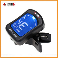 Wholesale Aroma Electric Tuner Clip on Clip Tuner for Chromatic Bass Violin Viola Ukulele Guitar Parts Accessories Guitar Tuner Via DHL