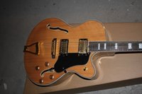 Wholesale belief14 Hot New Arrival G L L5 Jazz guitar F Semi Hollow Natural color Electric guitar in stock