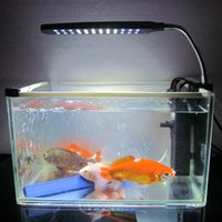 Wholesale Aquarium Fish Tank Water Plant LEDs W Clip Light Lighting Lamp Touch Switch Modes White Blue Flexible