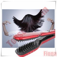 Cheap 2016 Hot Sale Profession Steam Hair Straightener Electric Straightenering Comb Brush Wiith LCD Display Screen Electric