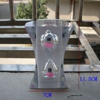 Wholesale flat hexagonal minutes hourglass transparent resin boutique Decoration practice homework tools