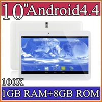 "Cheap 100X 10 10"" inch MTK6572 Dual Core 1.2Ghz Android 4.4 WCDMA 3G Phone Call tablet pc GPS bluetooth Wifi Dual Camera 1GB 8GB PB10A-5"