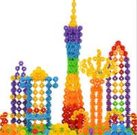 Wholesale 100pcs Snow Blocks Snowflake Building Puzzle Blocks Toy Bricks DIY Assembling Classic Toys Early Educational Learning Toys