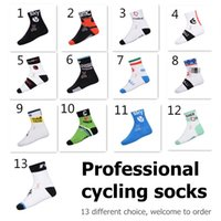 Wholesale 4 pairs Tour de france cycling socks coolmax dry fit quick dry outdoor sports socks used for mountain and road riding